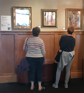 Viewing Mary's art gallery